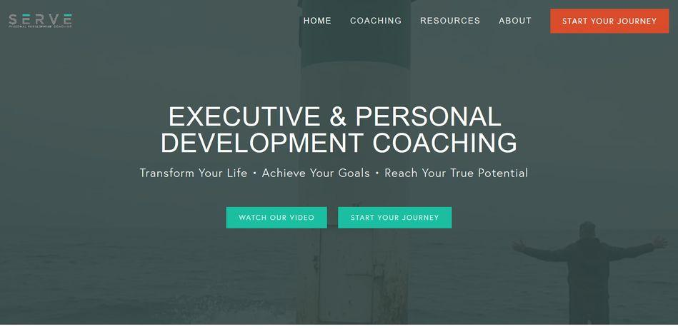 life coach website example